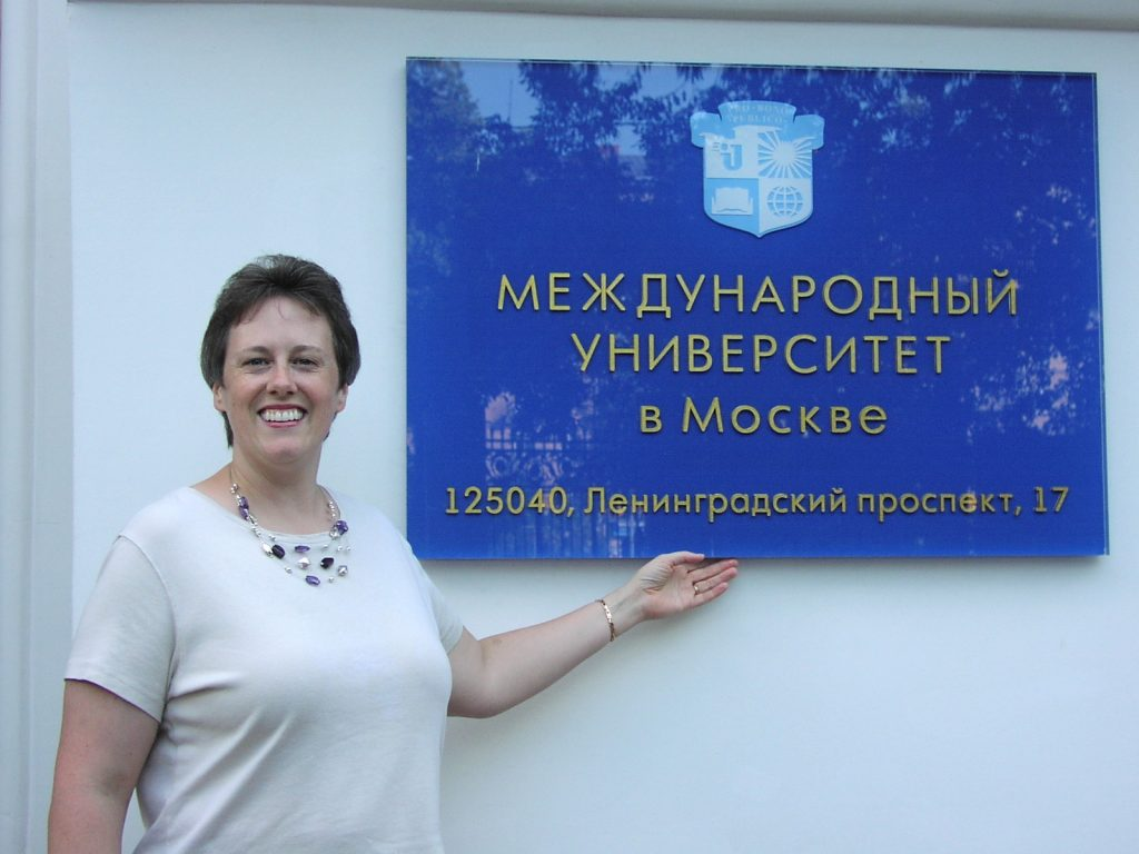 Karen in Moscow, where she researched Slavic language and literature.