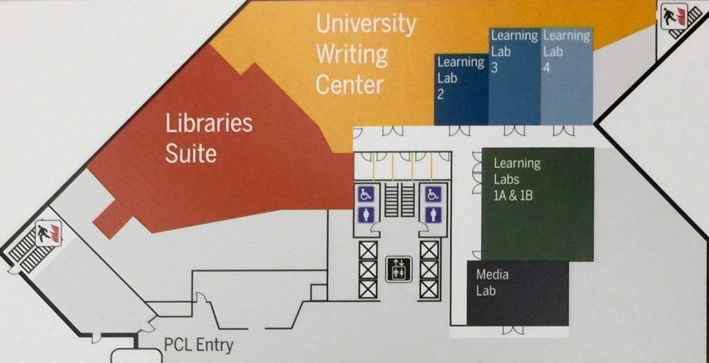 inside map of the Perry Castaneda Library.